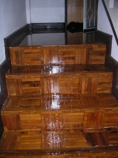 water damage wood floors